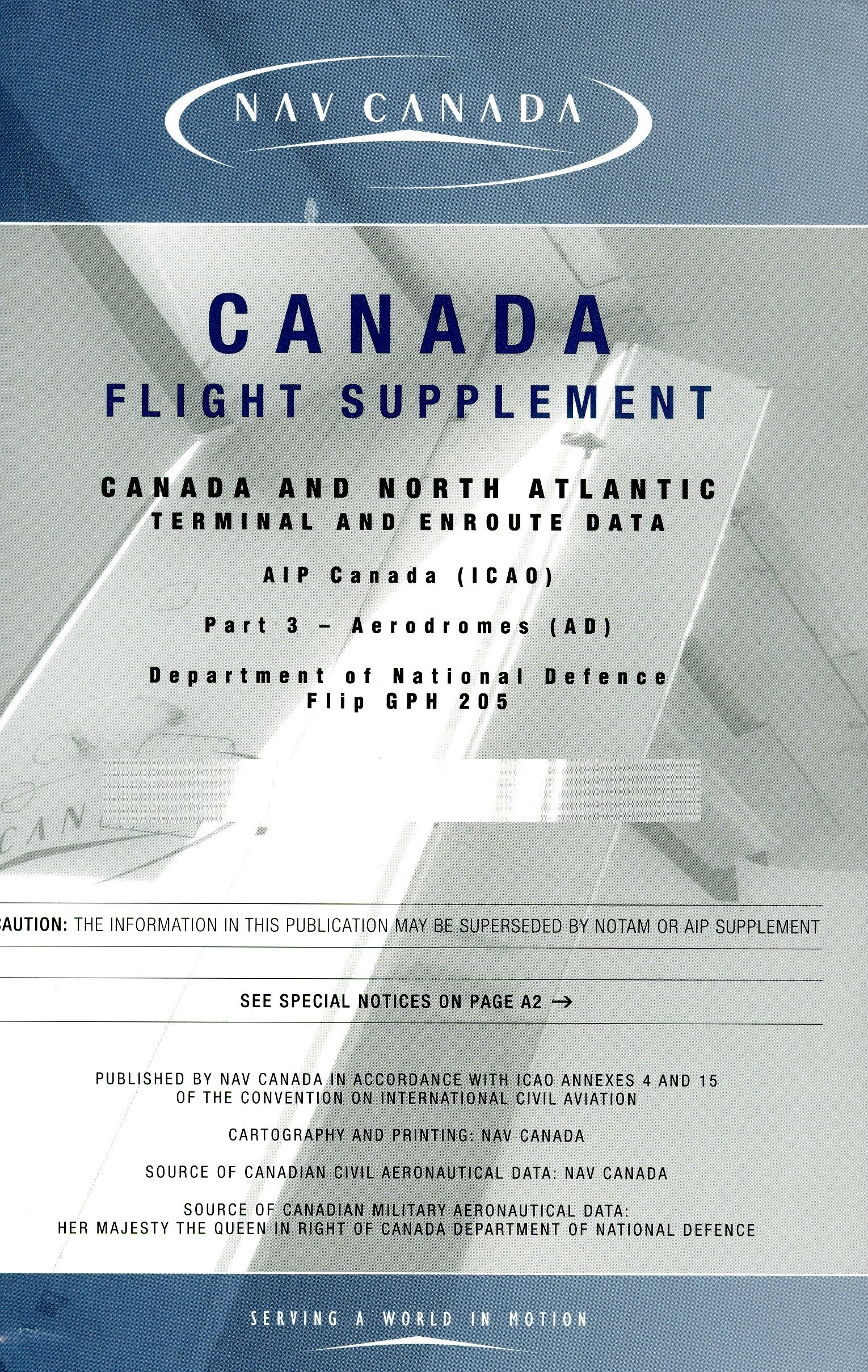 Flight Supplements - CFS & WAS