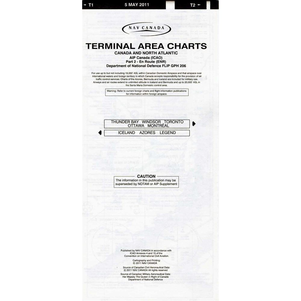 IFR Terminal Area Charts - T1  /  T2