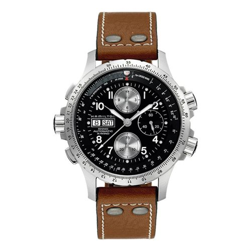 Hamilton Khaki Aviation X-Wind Auto Chrono Leather - Clearan