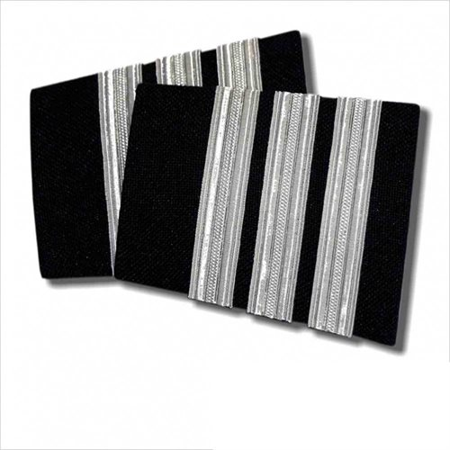 Navy Epaulet 3 Bar Silver - Clearance