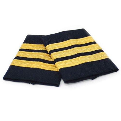 Navy Epaulet 3 Bar Gold - Clearance
