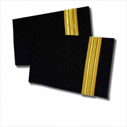 Navy Epaulet 1 Bar Gold