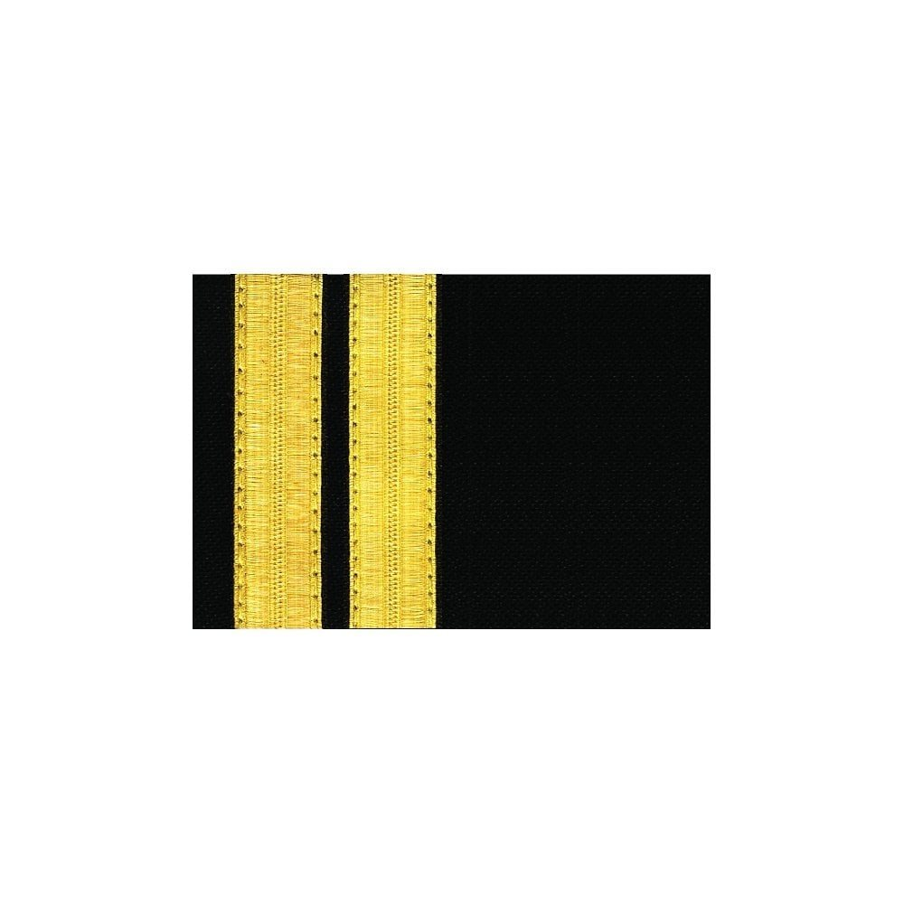 Navy Epaulet 2 Bar Gold