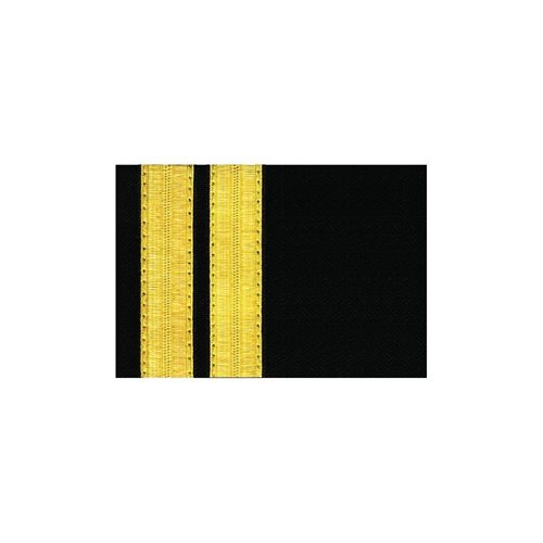 Navy Epaulet - 2 Bar Gold