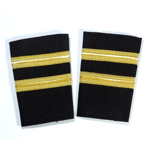 Black Epaulet 2 Bar Gold