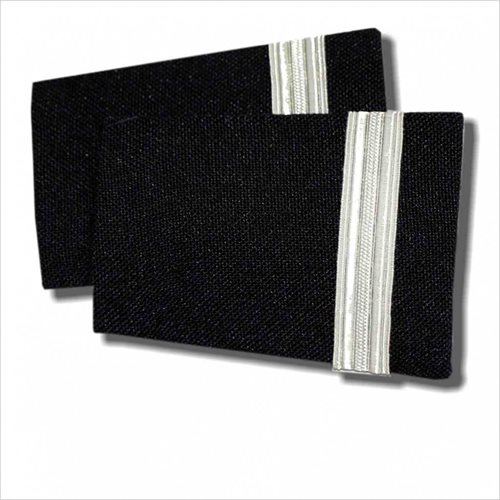 Navy Epaulet 1 Bar Silver