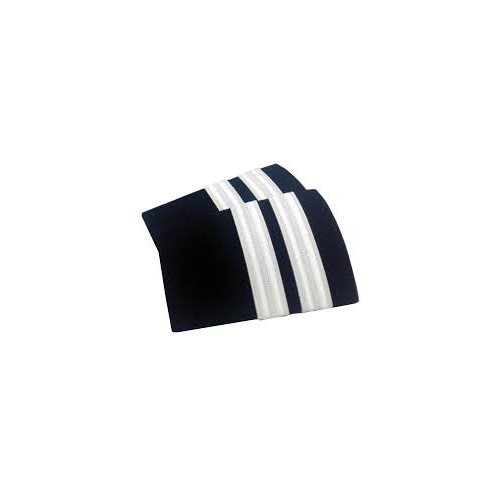 Navy Epaulet 2 Bar Silver